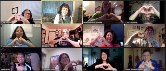 Our Virtual Faculty Members Send Love!