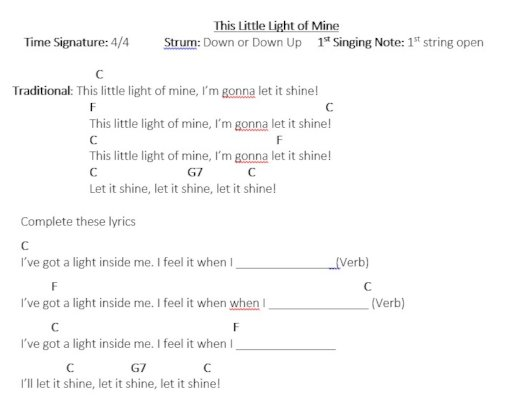 This Little Light with Student Songwriting