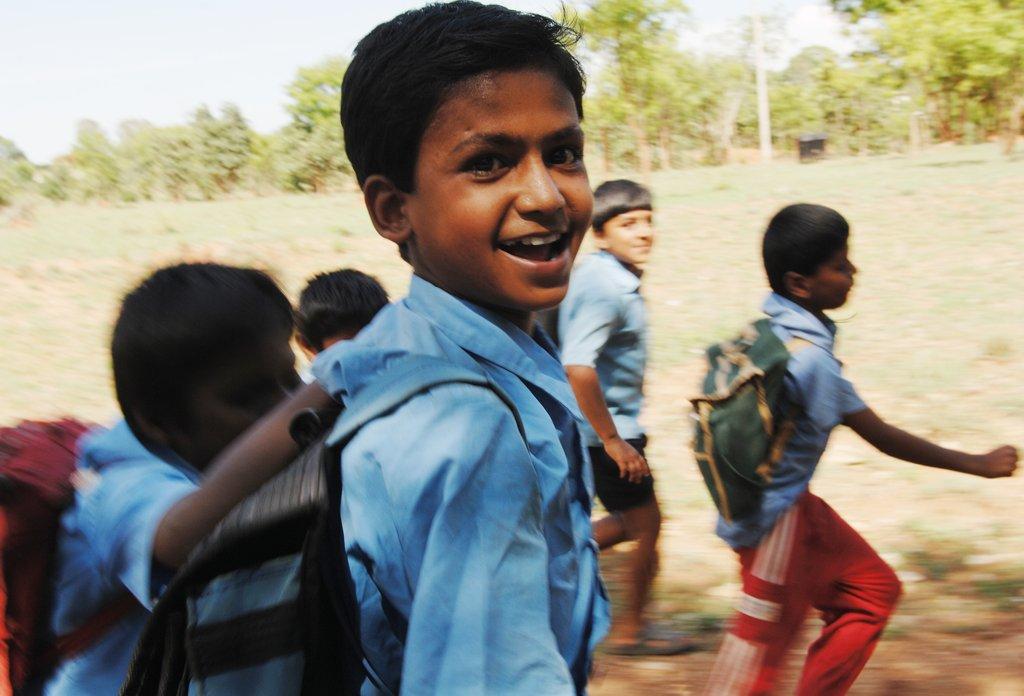 Rakesh, an Akshaya Patra beneficiary