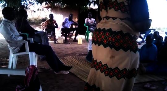 Rural Women attending a self help group meeting