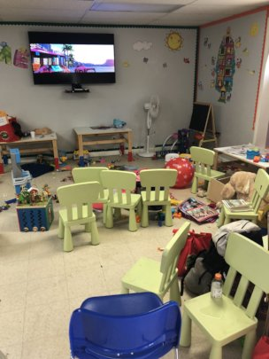 Playroom for the kids upon their release