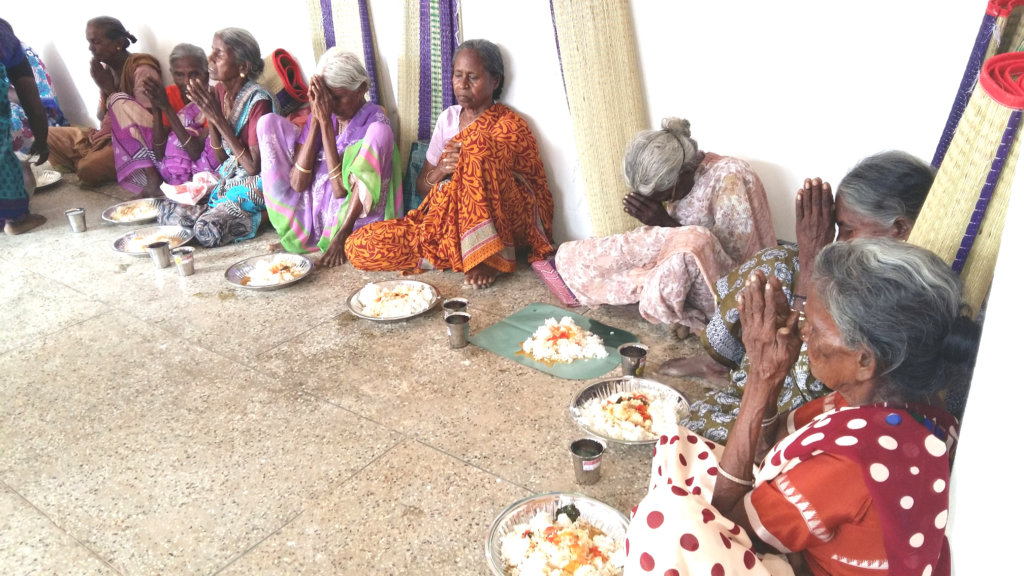 Provide food to starving neglected elder