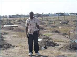 Peter in cemetary in Kakuma