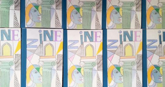 Zine Cover: Art by Basel Alsheakh Ali