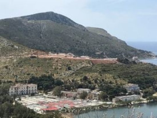 Construction of the new Hotspot Camp on Leros