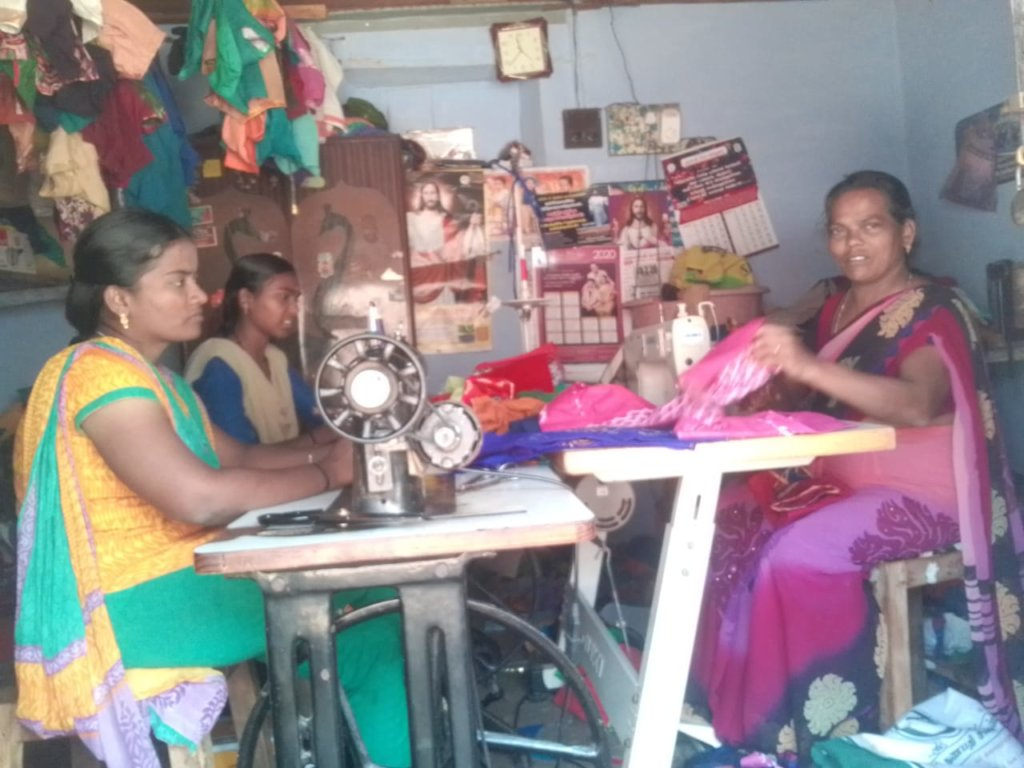 Tailoring shop of deaf and dumb at P.V.Chatram