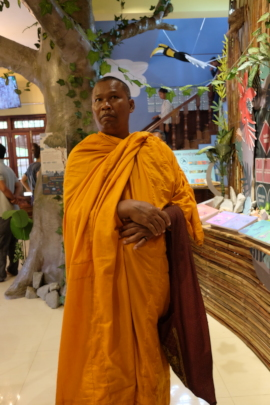 The Venerable Bun Saluth visits the center