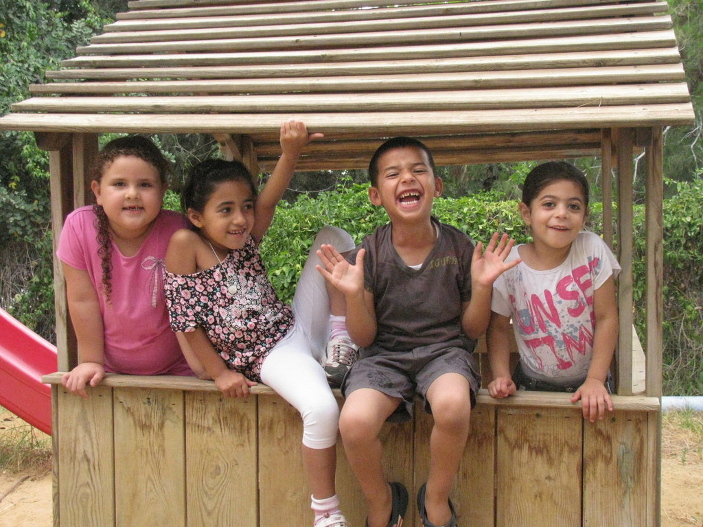 Yaara, Caroline, Yousef and Faryal are four of the 25 Jewish and Palestinian children who will join the school next September at the Primary School of Neve Shalom/Wahat al-Salam. The School is the first school ever to teach Arab and Jewish children together in Hebrew and Arabic.