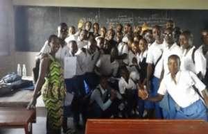 High school students at peace seminar
