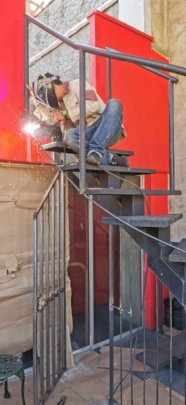Welding work to create safe, secure project spaces