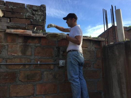 Gary organizing the wall borders