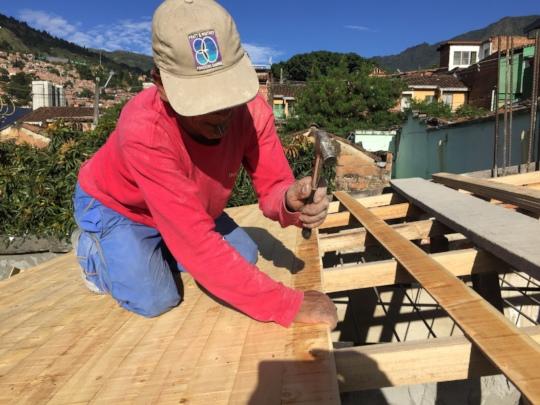 Humberto fixing roofing
