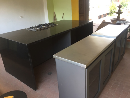 Kitchen Island with additional counters