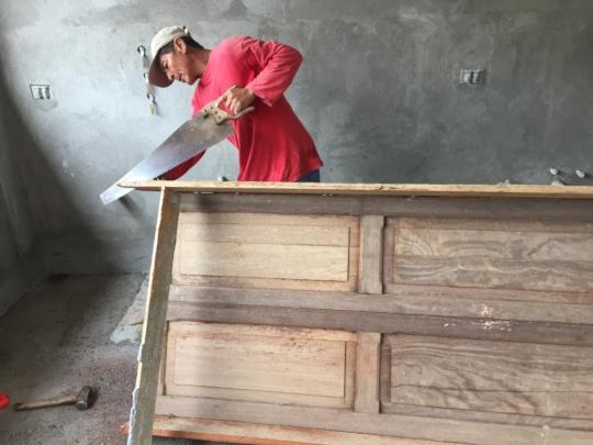 cutting recuperated doors