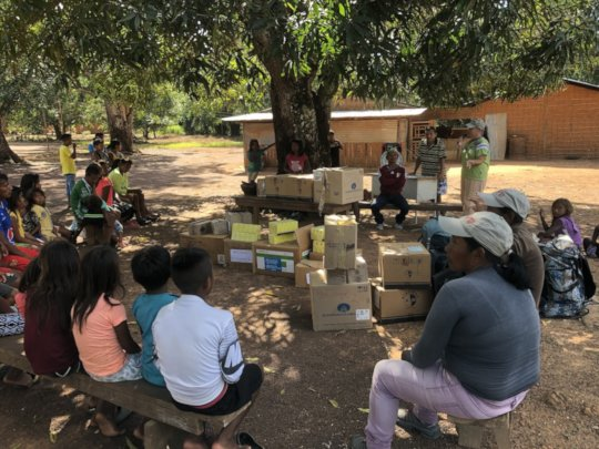 Delivering medicines in Guayabalito