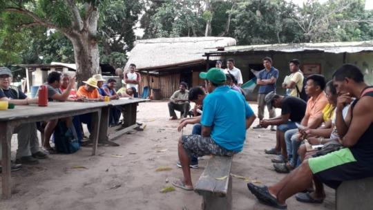 Representantes de las comunidades Yekwana y Sanema