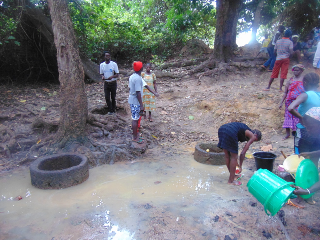 Initial Source of water for the community