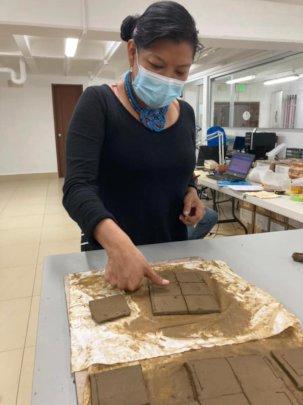 Creating clay plates