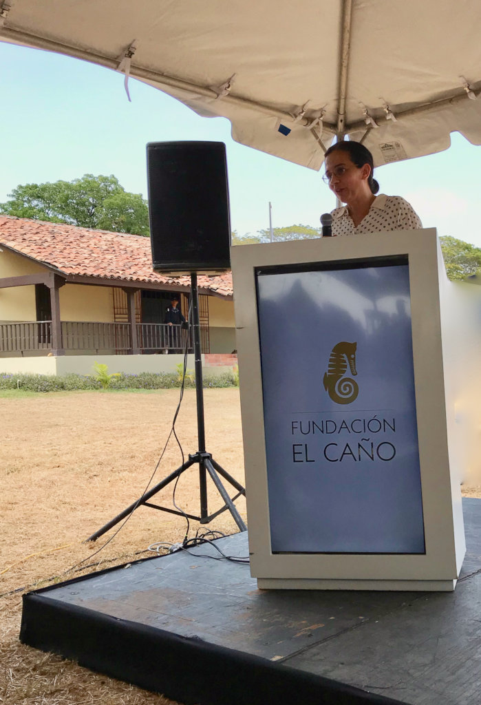 Dr. Julia Mayo speaking during the ceremony.