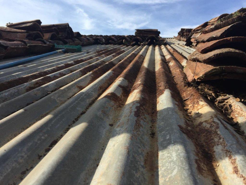 zinc sheet before waterproofing treatment