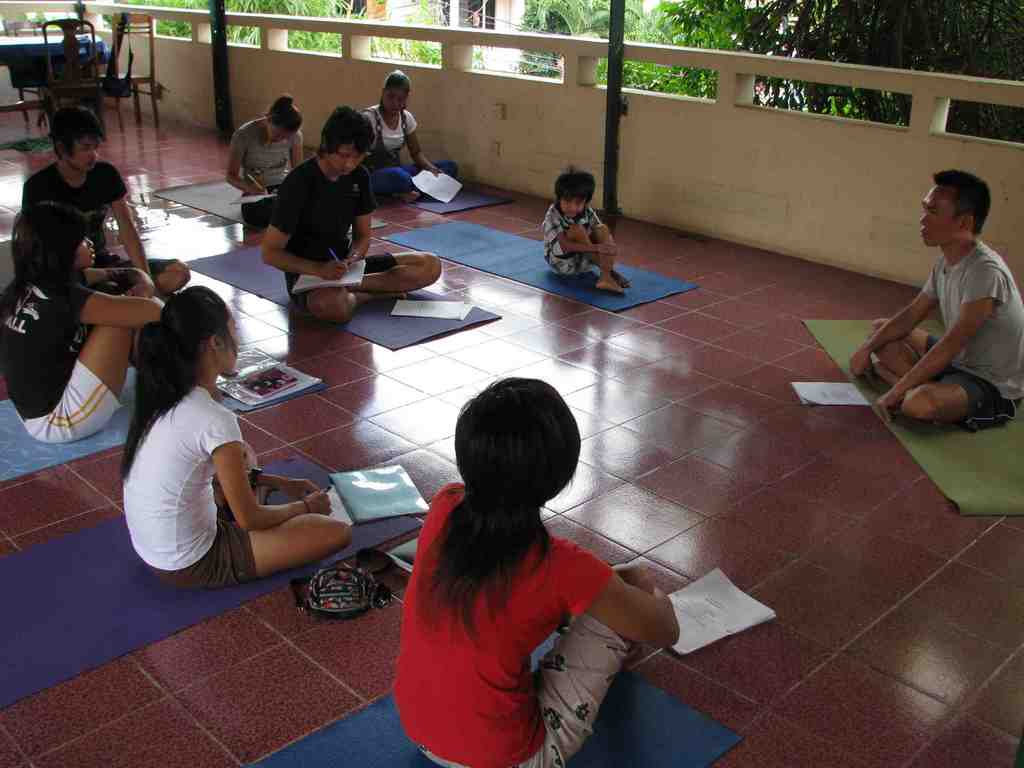 TLC girls in intensive yoga study