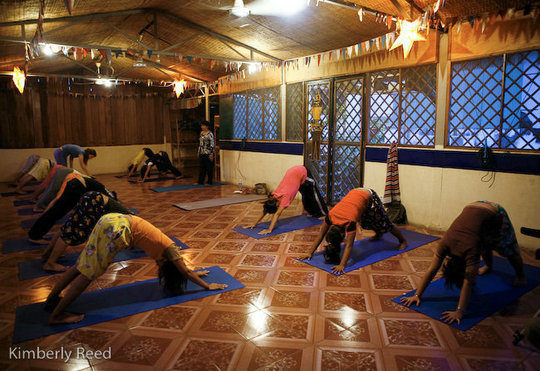 Yoga therapy at TLC
