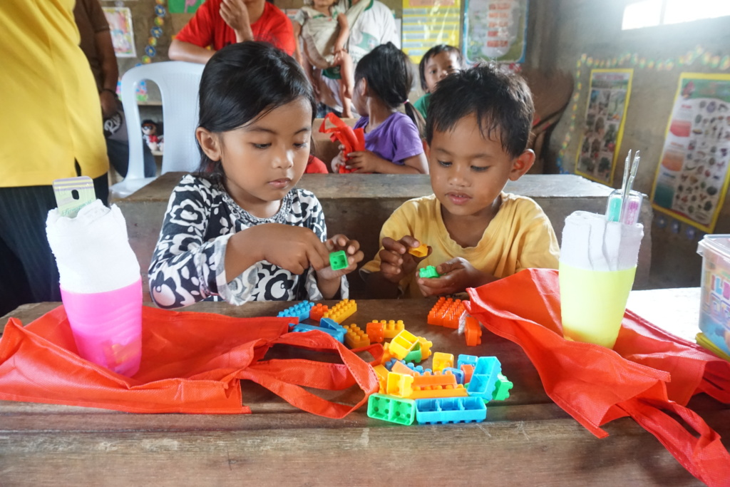 Tubaday daycare learners with hygiene kits & toys