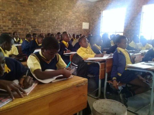 Outreach in schools around the rural villages
