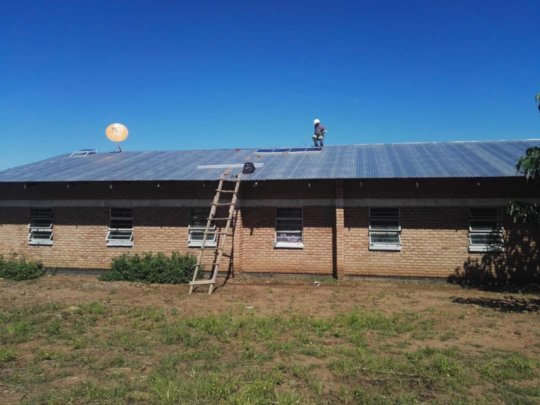 New solar panels installed 8 April 2019