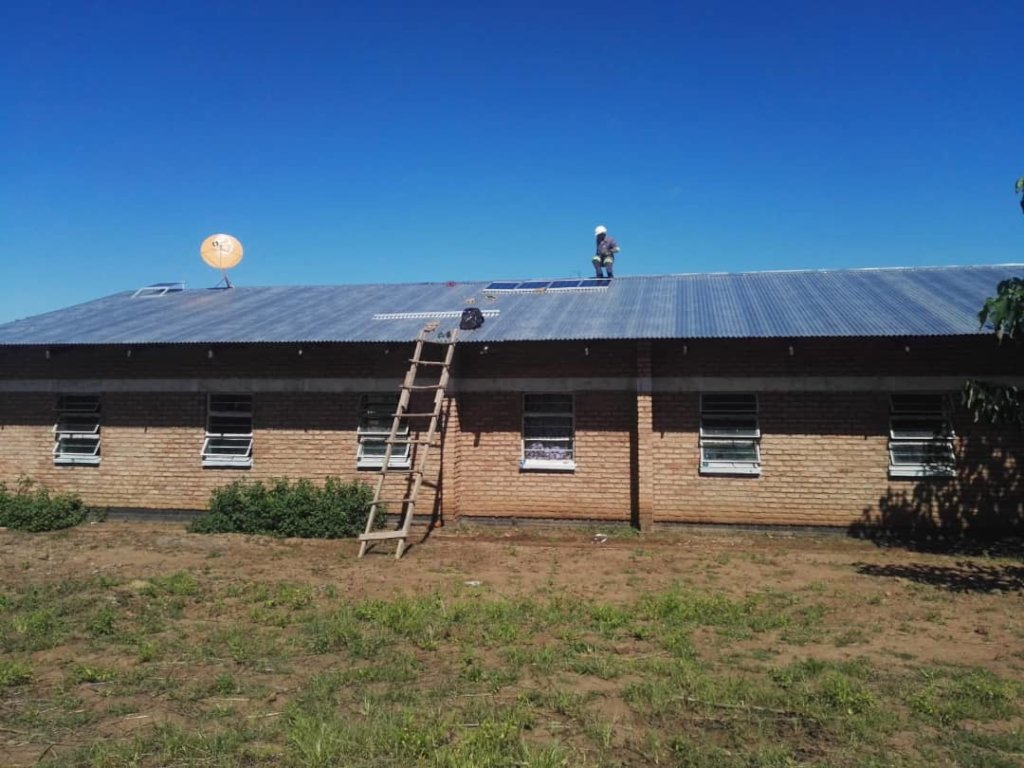 New solar panels installed 8 April 2019