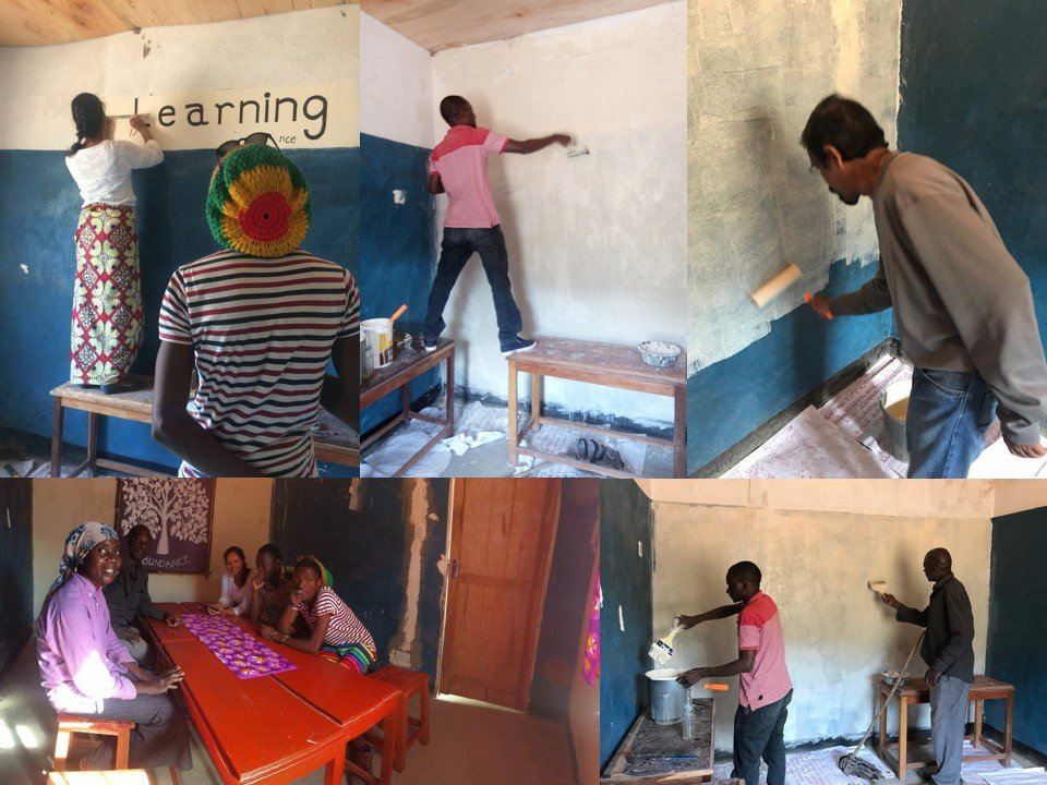 Painting the room for eLearning Center