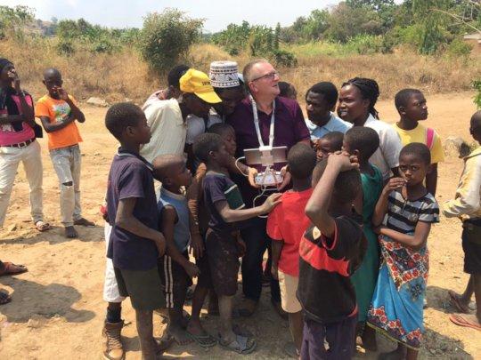 Drone testing at Mbando village