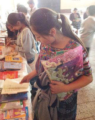 Girls Attending a Book Fair in Patzun, Guatemala