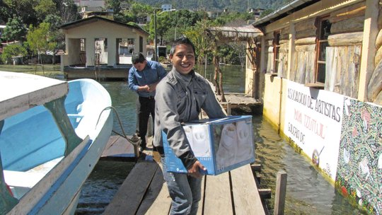 Book delivery by boat and tuk tuk.