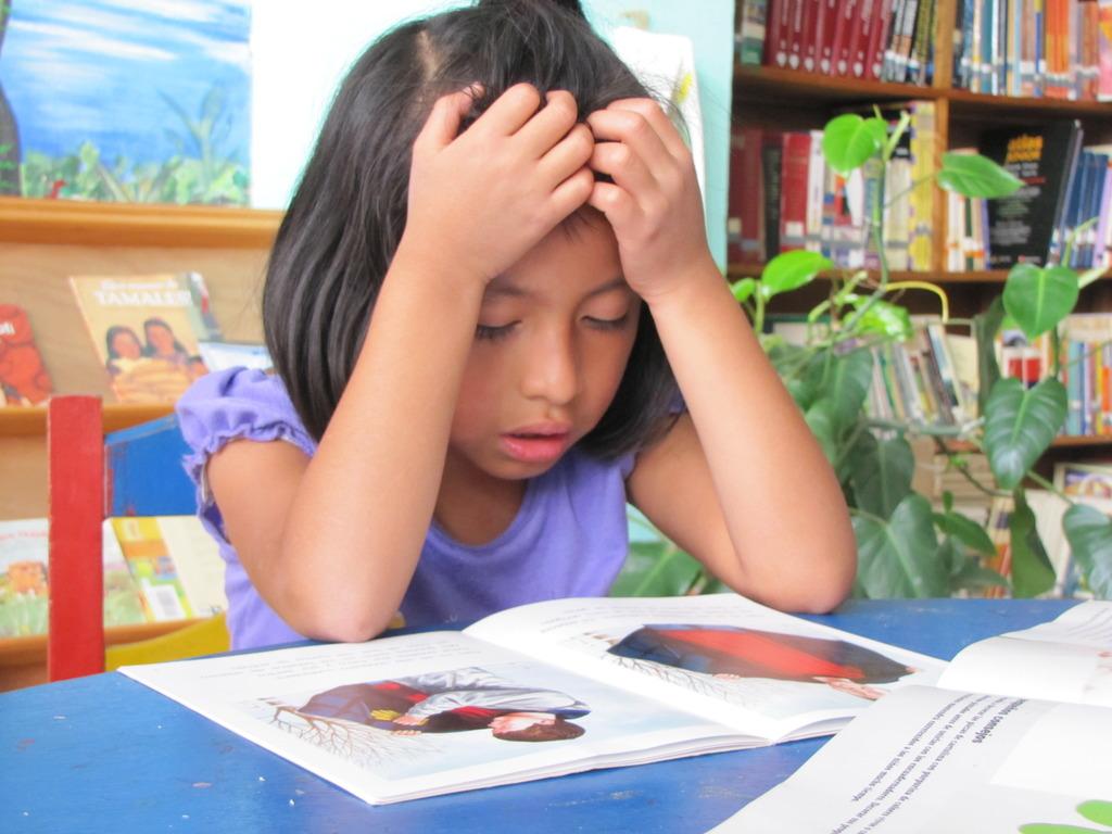 Fatima, reading like a US fourth grader