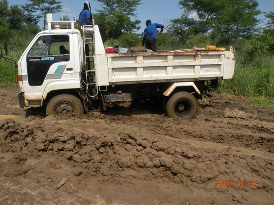 This truck delivers Beehives in January dry season