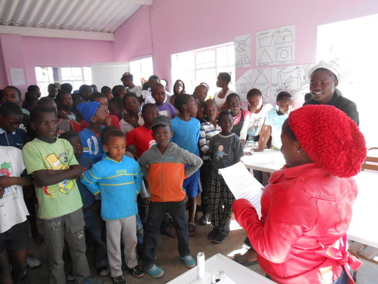 Lindiwe & Charity run intro to sewing for ZImkids