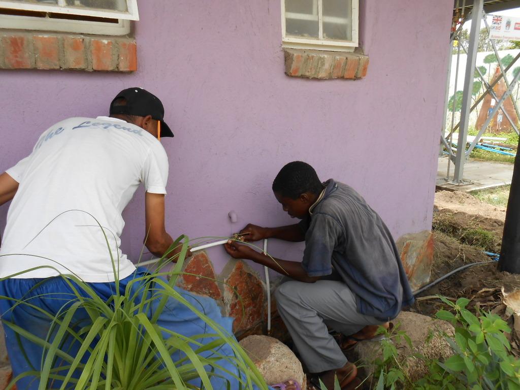 Ngqabutho training to do plumbing