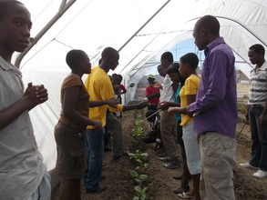 Agriculture class in our greenhouse