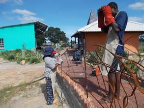 Multi-talented Lindiwe welding railing