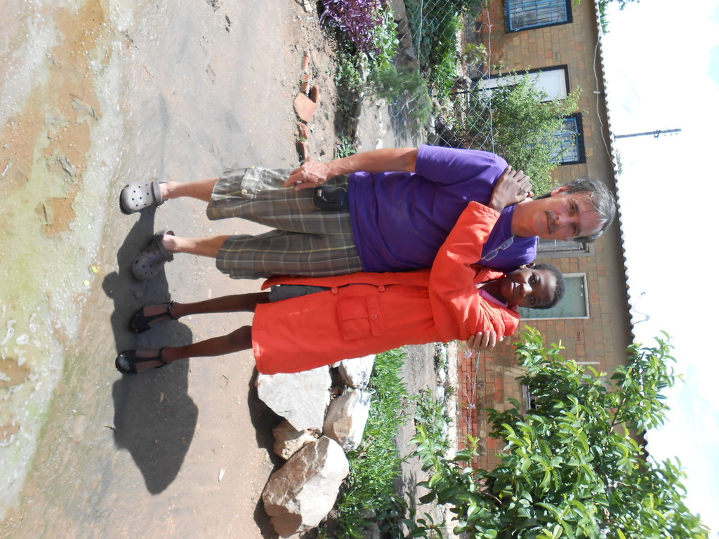 Langilihle and I to clinic for her daily TB tablet