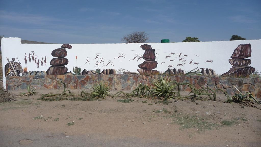 One of the Murals by Shaka Ndlovu Front wall