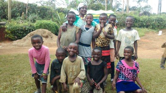 JRCCA Executive Director teaching kids at center