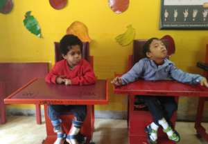 Children sitting comfortably in Castor Chairs