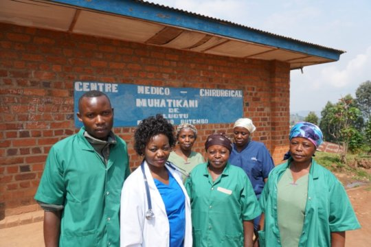 Healthcare workers at one of our Ebola facilities