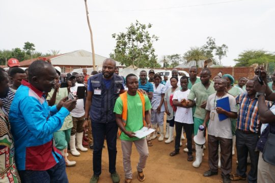 One of five cured Ebola patients from June 2019