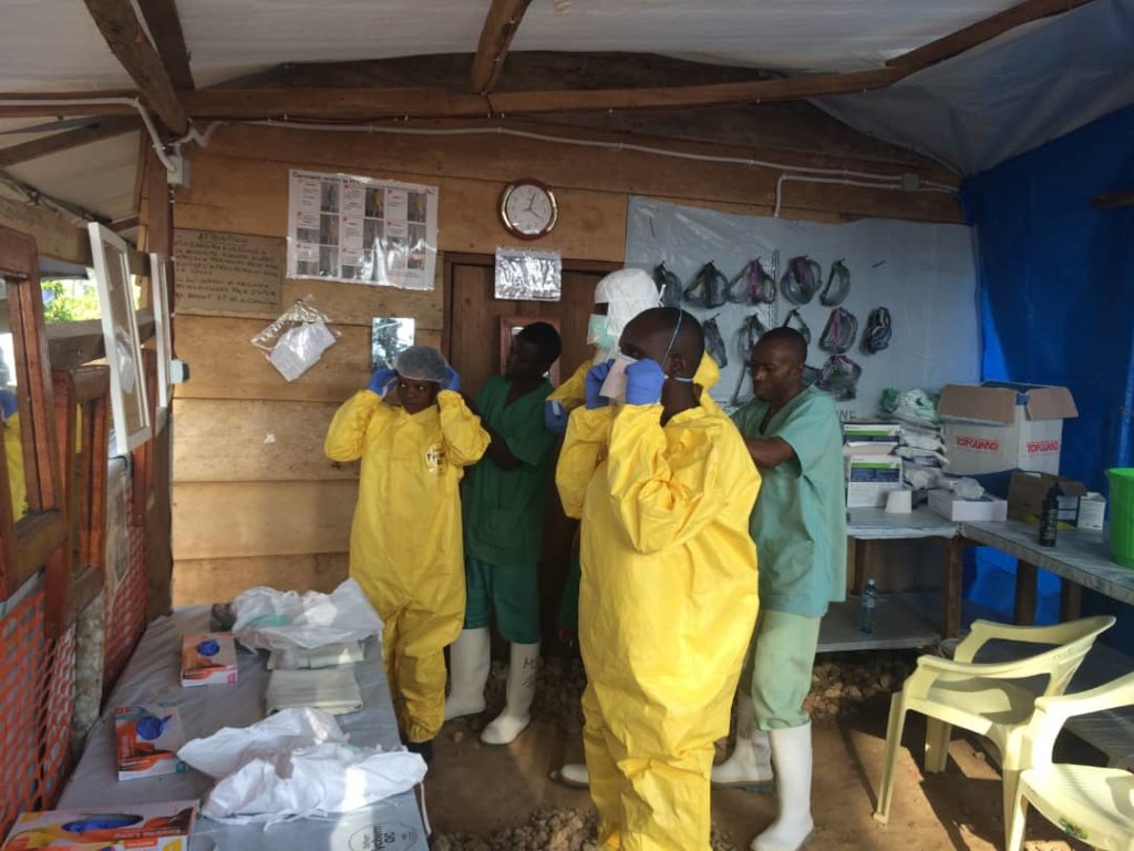 Staff prepare to provide care for Ebola patient
