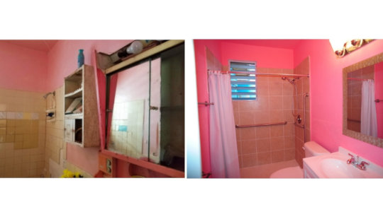 Home #1- Before and After ADA Compliant Bathroom
