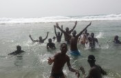 Hold a month-long swim camp for 50 kids in Benin.