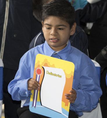 Brandon graduates from elementary school
